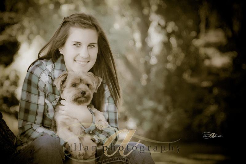 Senior portrait with pet