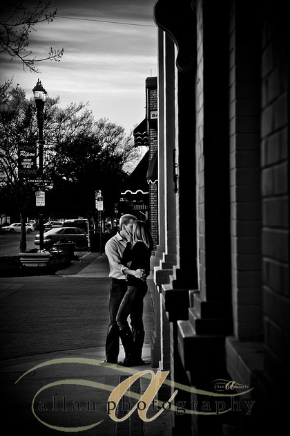 a kiss on the corner